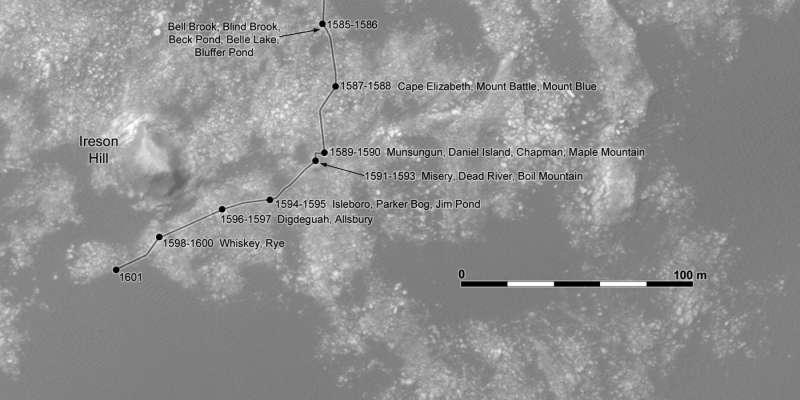 Dettaglio della route map aggiornato al sol 1601