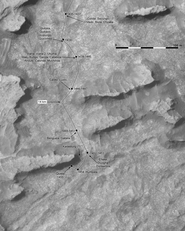 Curiosity route map aggiornata al sol 1455