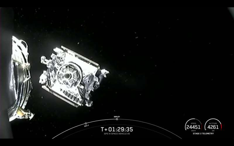spacex f9 gps3sv05 release