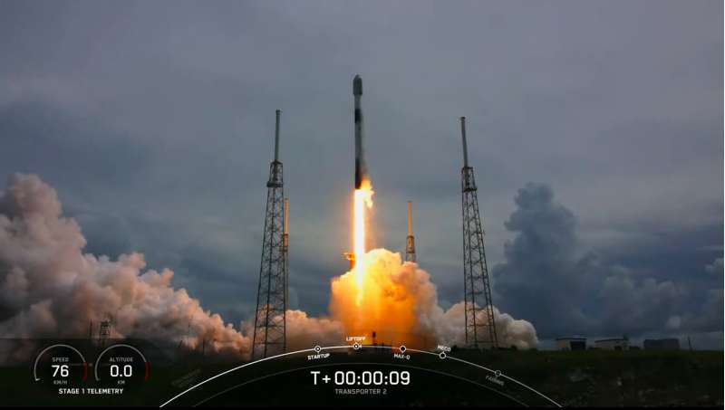 spacex f9 transporter2 liftoff 30062021