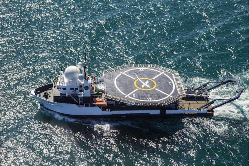 spacex recovery ship goseracher