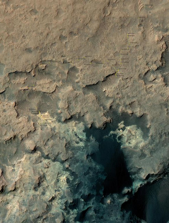 Curiosity traverse map 797