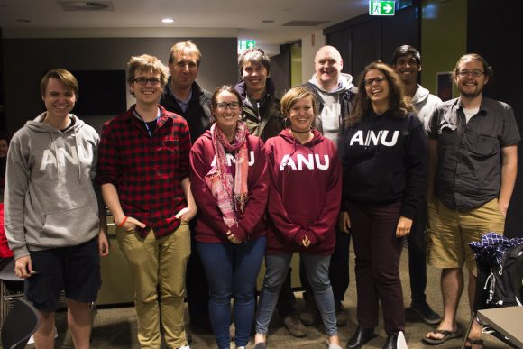 ANU Planet 9 team with Brian Cox 580x387