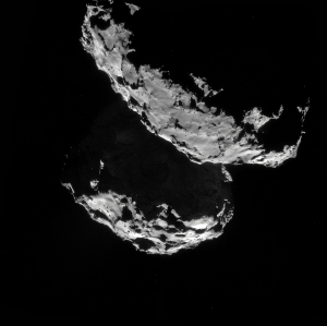 ESA Rosetta NavCam mosaic - comet 67P/C-G on 10 September from a distance of 27.8 km