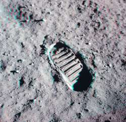 """FOOTPRINT"" Apollo 11 - anaglifo"