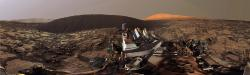 Curiosity: la duna Namib in un panorama 360° del sol 1197