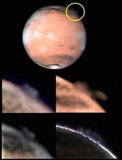 Il misterioso pennacchio osservato su Marte il da W. Jaeschke e D. Parker il 21 marzo 2012.