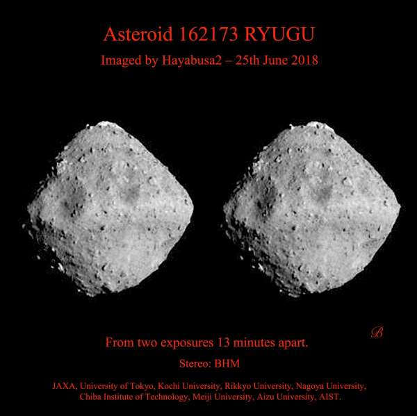 immagine stereoscopica di Ryugu (parallel eyes)