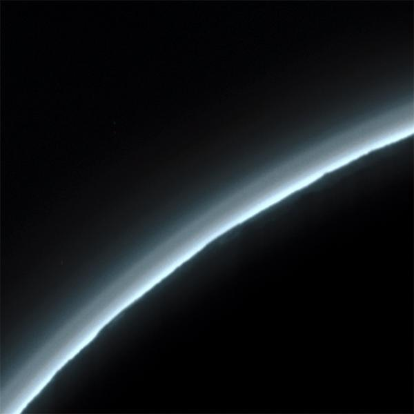 Pluto haze and terrain (detail)